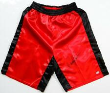 Randy Couture Autographed Red Custom UFC Trunks - Beckett Auth *Black