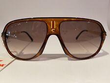 Nos Vintage Carrera 5547 11 brown tortoise aviator sunglasses