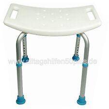 Badewannensitz Duschsitz höhenverstellbar - Duschhocker mit rutschfesten Füßen