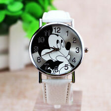 Mickey Mouse Women Mens Kids Leather Watch Choice of Colour