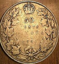 1931 CANADA SILVER 50 CENTS COIN