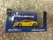 RARE!  AUTOart Metallic Yellow Lamborghini Gallardo 1:64 NEW!  FREE HIPPING!