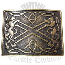 Men's Lion Rampant Kilt Belt Buckle Antique/Belt Buckle Saltier Rampant Lion