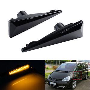 LED Clignotant répétiteur Noir Pour Renault Espace Megane 2 de 11/2002 à 11/2008