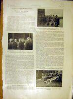Original Old Vintage Print Prague Fete Bohemia Divis Masaryk Automobile 1919