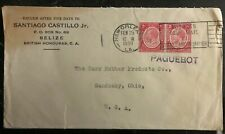 1930 Belize British Honduras Commercial Paquebot Cover To Sandusky OH USA