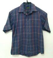 Jeep Mens Shirt Size S Purple Short Sleeve Button Up Authentic Casual EUC
