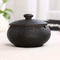 Ceramic Ashtray with Lid Windproof Cigarette Ash Holder Storage Container