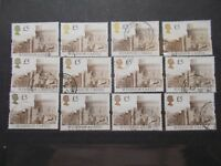 12 x GB 1992 Castles Stamps~£5 Brown Value ~Very Fine Used~W2~UK Seller
