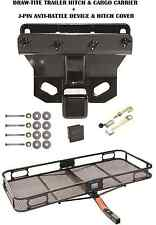 06-10 JEEP COMMANDER TRAILER HITCH + CARGO BASKET CARRIER + SILENT PIN LOCK TOW