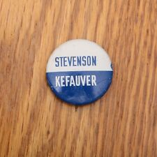 Stevenson Kefauver Political Campaign Button Reproduction Pin