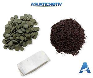 Snail Food Mix - Calcium & Spirulina Enriched Diet - Veggie Sticks Algae Wafers