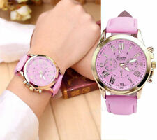 Geneva Fashion Women's Watch Roman Numerals Leather Analog Quartz Wrist Watches
