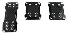 Sumex Aluminium Pedal Set of 3 for Manual Vehicles / Cars - Real Carbon Black