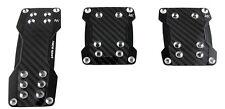 Sumex Pedal de Aluminio Conjunto de 3 para vehículos Manual/negro carbón Cars-real