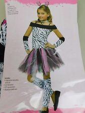 Zebra Girl's Halloween Dress-up Costume 8-10 Medium #5331