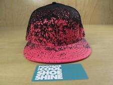GOODFOOT NEW ERA FITTED HAT HOT LAVA PINK BLACK TECH CHALLENGE 7 1/2 SPLATTER