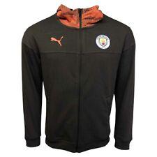PUMA Manchester City FC Men's Casuals Zip Through Hoodie - Grey/Pink - New