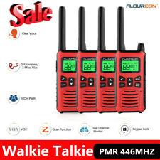 4X Walkie Talkies Set 3 Miles Walky Talky PMR 446MHz 16CH + 121 Code Interphone
