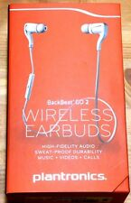 Plantronics BackBeat GO 2 Wireless Bluetooth Stereo Earbuds Retail Box - WHITE