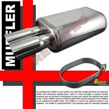 """Universal Dual DTM Angle Tip Exhaust Muffler 2.5"""" Inlet T304 Stainless Steel"""