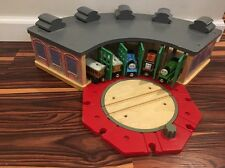 Thomas & Friends Wooden Railway Tidmouth Shed Engine Roundhouse Turntable Trains