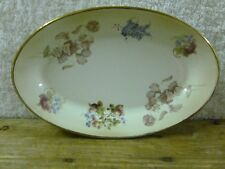 Robert Gordon Studio Gold Trimmed Floral Small Oval Plate/ Platter 23cm x 15cm*
