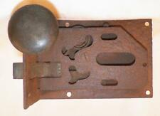 Antique Iron Plate Interior Door Lock 18th Century PA Dutch Blacksmith #5 Thick