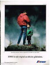 Publicité Advertising 1992 Les Manteaux Impermeables K-Way