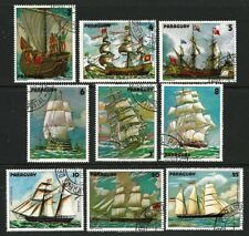 1979 Paraguay - Paintings of Sailing Ships - Complete Set 9 with Airmails CTO