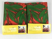 """Isabelle De Borchgrave Party Table Covers NEW Set of 2 Red Green Floral 62x90"""""""