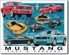 Ford Mustang Chronology Metal Tin Sign Wall Art  Free Shipping