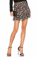 IRO BROOKS FLORAL-PRINTED SKIRT FR 36 UK 8