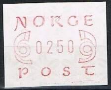 Noorwegen postfris automaatzegels 1980 MNH A2 (03)