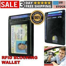 Small Wallet for Men & Women Slim Leather RFID Blocking Credit Card Holder Gift