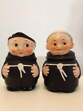 Goebel Friar Tuck/Monks Sugar Bowl w/ Lid and Creamery 1950s Full Bee TMK2 RARE!