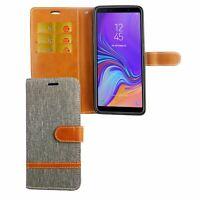 Samsung Galaxy A9 2018 Étui Coque Téléphone Portable Protection Pochette de Gris