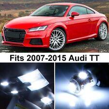 6 x Premium Xenon White LED Lights Interior Package Upgrade for Audi TT
