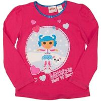 NEW LALALOOPSY HOT PINK COTTON LONG SLEEVE TOP TEE SHIRT SIZE 3,4,5,6