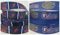 GROSGRAIN FLORIDA GATORS FOOTBALL 4 YD RIBBON LOT FOR HAIR BOWS DIY CRAFTS