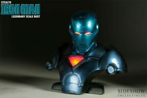 Marvel Avengers Sideshow EXCLUSIVE Stealth Iron-Man Legendary Scale Bust SEALED!