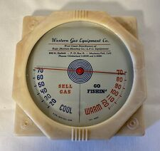 Vintage Advertising Thermometer Western Gas Equipment Co Monterey Park Celluloid