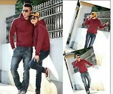 JACKET PLAIN WITH HOODIE - COUPLE SET ( MAROON)