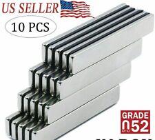 10pcs N52 Strong Neodymium Magnets Rare Earth Lifting Magnets 40x7x3mm