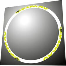 MAVIC CROSSMAX SX 2014  26 inch  MTB FLUORYELLOW REPLACEMENT DECALS FOR 2 RIMS
