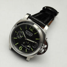 Parnis 40mm Military Power Reserve Black Dial Mechanical Automatic mens Watch k