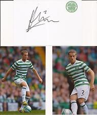 CELTIC * ADAM MATTHEWS SIGNED 6X4 CRESTED WHTE CARD+2 FREE UNSIGNED PHOTOS+COA