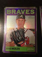 2013 Topps Heritage Purple Refractor Kris Medlen Braves HC69