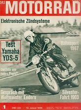 Motorrad 1/68 1968 Yamaha YDS5 Klaus Enders Manfred Zeller Japan Rennfahrer moto