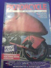 MOTORCYCLE AND WORKSHOP - March 1988 #1 ***FIRST ISSUE***